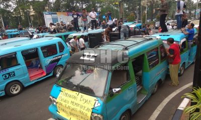 Sopir Angkot Demo Tuntut BRT Kota Tangerang