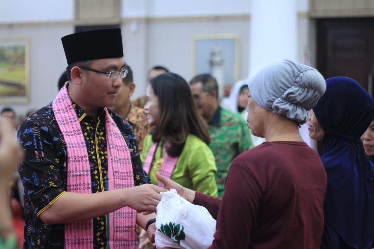 Wakil Gubernur Banten Andika Hazrumy saat acara pelantikan Perempuan Tani HKTI Banten