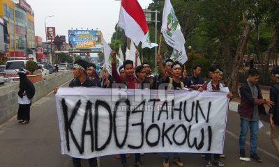 Unjuk Rasa KAMMI Banten 4 Tahun Kepemimpinan Jokowi