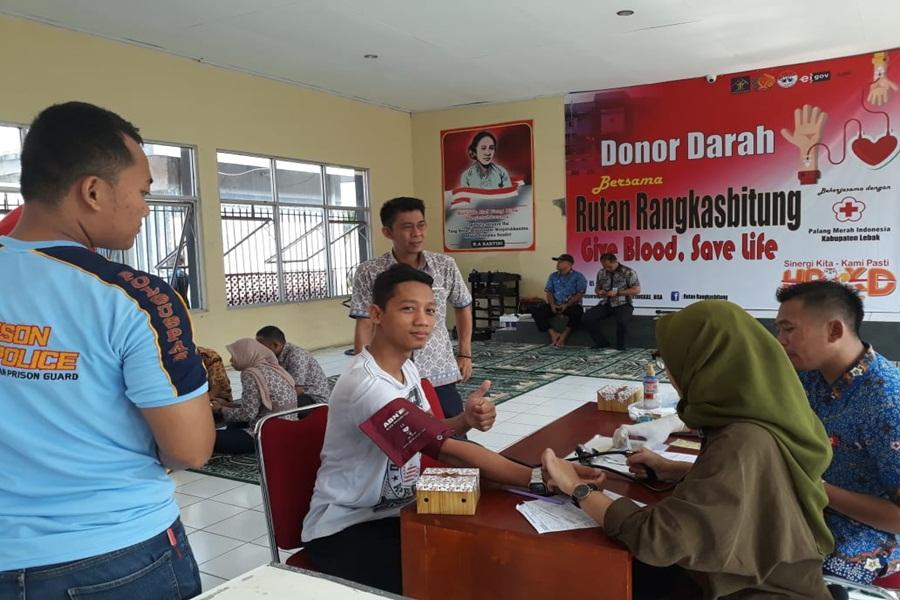 Donor Darah di Rutan Rangkasbitung