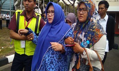 Keluarga Penumpang Lion Air Datangi Posko Terpadu Bandara Soetta