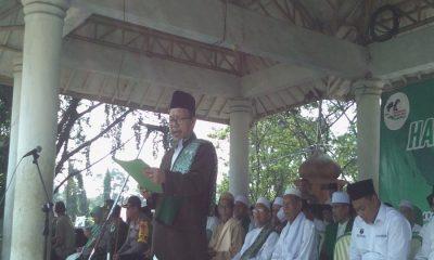 Ketua PB Malnu Pusat Menes Beri Sambutan di HSN