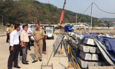 Komisi I DPRD Kota Cilegon Saat Menyambangi Proyek Dermaga VII Pelabuhan Merak