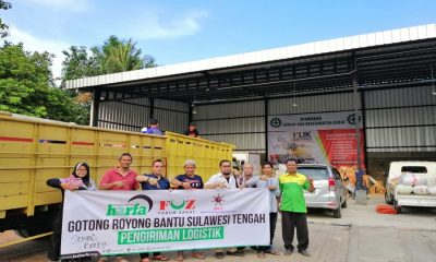Laz Harfa Banten Kirim Logistik ke Sulteng
