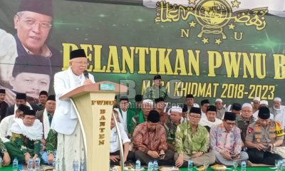 Ma'ruf Amin Hadiri Pelantikan PWNU Banten