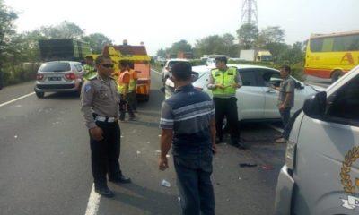 Mobil DPRD Cilegon Alami Kecelakaan Beruntun