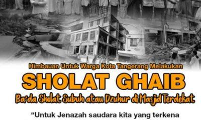 Pemkot Tangerang Serukan Salat Gaibuntuk Korban Gempa Palu dan Donggala