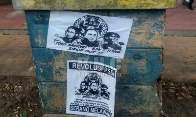 Selebaran Protes PSSI di Kota Serang