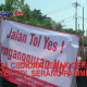warga cibadak Lebak geruduk proyek Tol Serang-panimbang