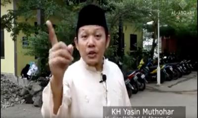 Pimpinan Pesantren Mahasiswa Ma;had Al Abqary Serang saat mengecam aksi Banser bakar bendera kalimat Tauhid