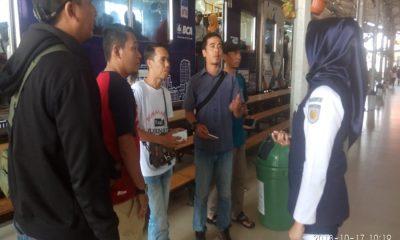 Sosialisasi GMHP di Stasiun Rangkasbitung