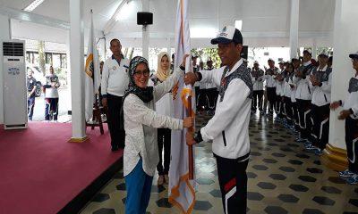 Bupati Lebak Iti Octavia Jayabaya Lepas Kontingen Porprov V Banten 2018