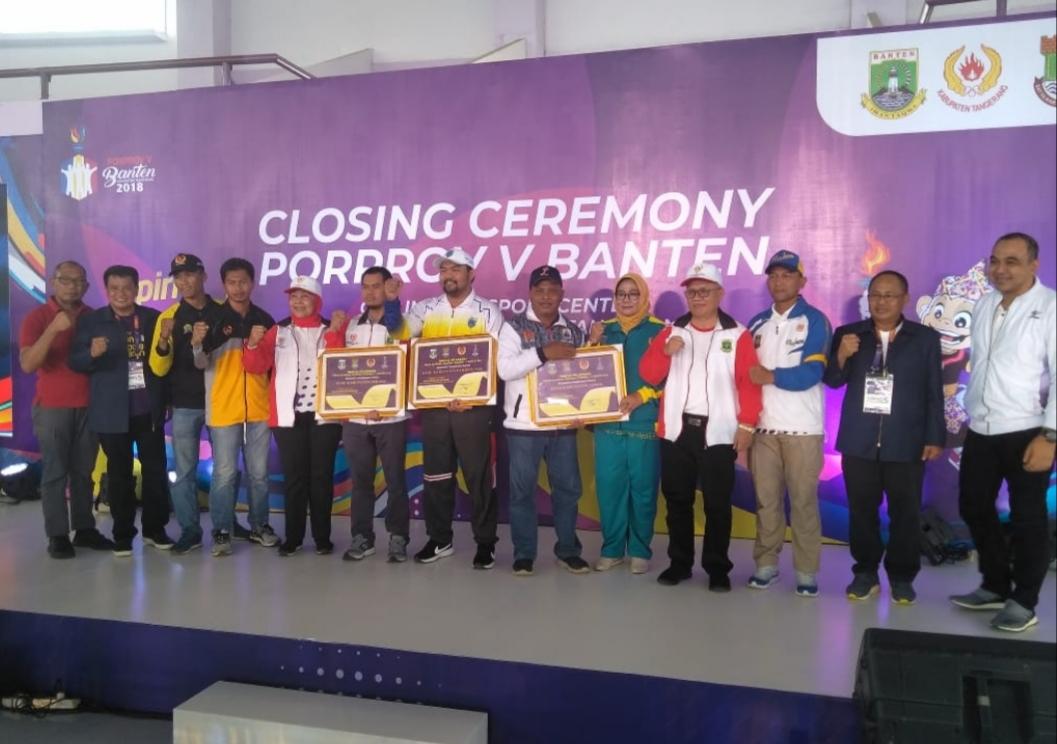 clossing ceremony Porprov V Banten
