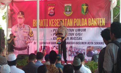 Biddokkes Polda Banten Gelar Bhakti Sosial Kesehatan di Keluarahan Banten