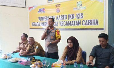 Polres Pandeglang bagikan kartu sakti Jokowi