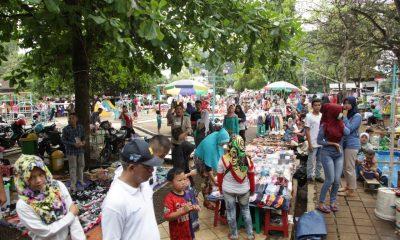 PKL di Alun-alun Pandeglang
