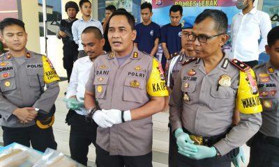 Kapolres Lebak AKBP Dani Arianto saat ekspos kasus narkoba di Mapolres Lebak, Rabu, 29 November 2018
