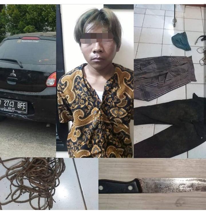 satu tersangka pembunuh driver taksi online