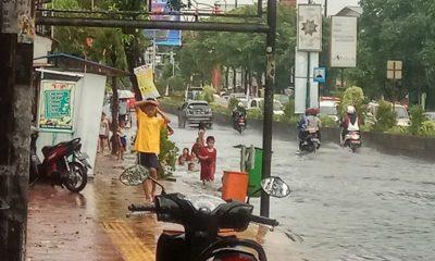 Hujan Dua Jam Sejumlah Titik di Kota Serang Banjir