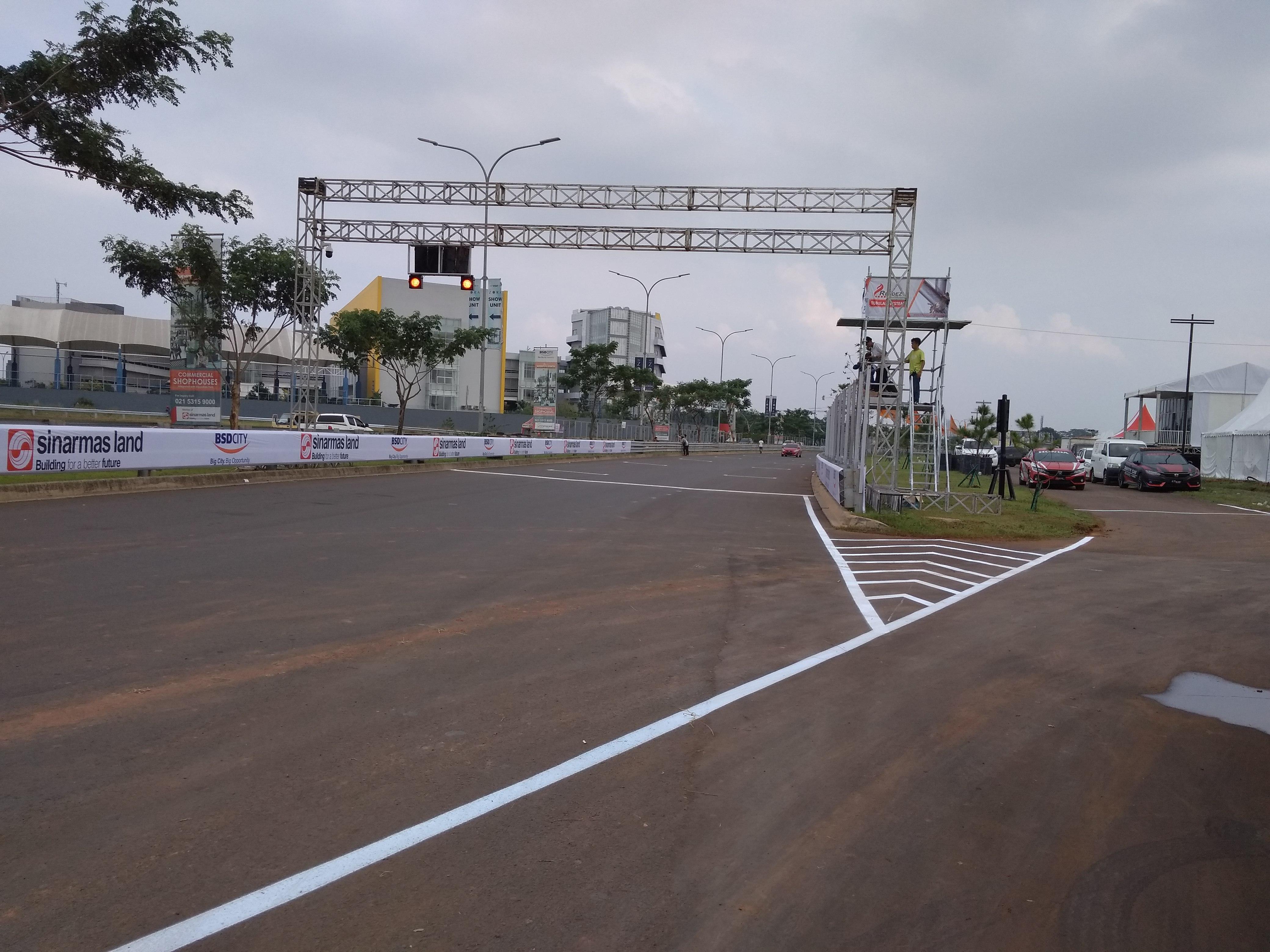 Lintasan yang akan digunakan para pembalap BSD City Grand Prix 2018