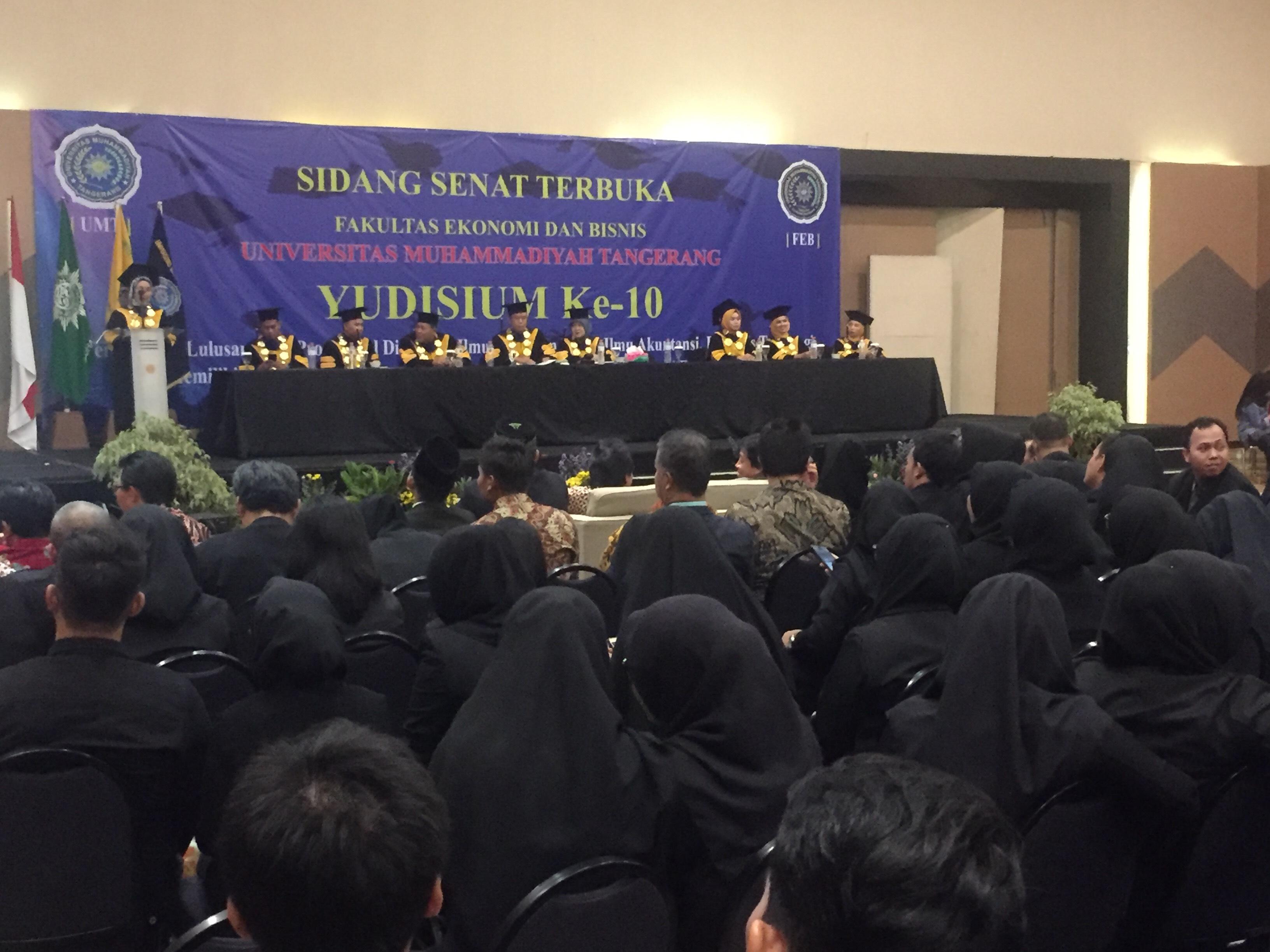 Ikuti Yudisium ke-10, 948 Mahasiswa Fakultas Ekonomi dan Bisnis UMT Siap Diwisuda