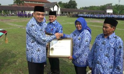 Bupati Tangerang Ahmed Zaki Iskandar saat HUT Korpri ke-47