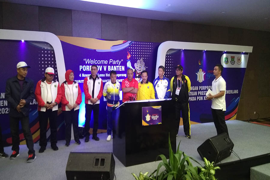 Mad Romli saat Welcome party Porprov V Banten 2018