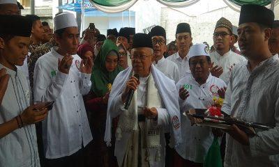 Ma'ruf Amin Resmikan Posko Relawan Rabu