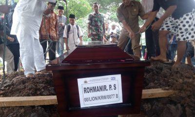 Pemakaman korban lion air