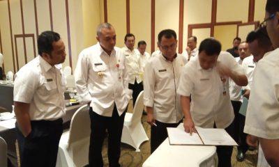 rapat aset daerah se-Tangerang Raya di Hotel Arya Duta