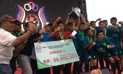 Kalahkan Desa Cukanggalih lewat Adu Pinalti, Desa Rappang Bawa Pulang Tropi Juara Liga Desa Nusantara 2018
