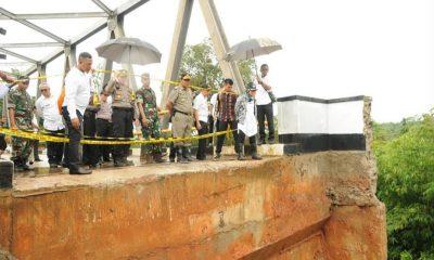 Bupati Iti Pastikan Jembatan Penghubung Dua Kecamatan di Lebak yang Ambrol Diperbaiki