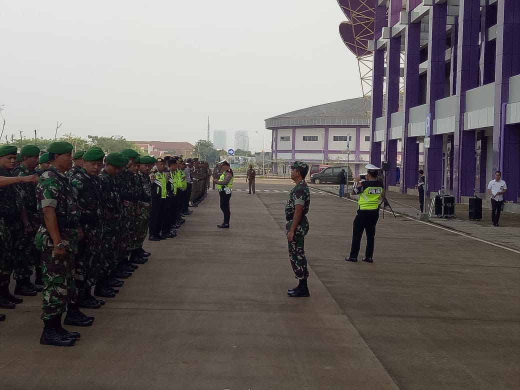 apel gabungan terkait penertiban dan penegakan peraturan Bupati (Perbup) Tangerang Nomor 47 tahun 2018