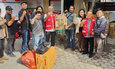 Wartawan Cilegon Serahkan Bantuan untuk Korban Tsunami Selat Sunda