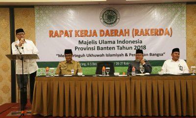 Gubernur Banten Wahidin Halim buka Rakerda MUI Banten