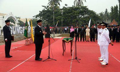 gubernur Banten Melantik wali Kota Serang di Situs Banten Lama