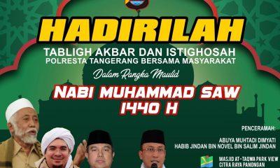 Ada Reuni Akbar 212, Polresta Tangerang Gelar Istigasah bersama Warga di Masjid At-Taqwa Citra Raya
