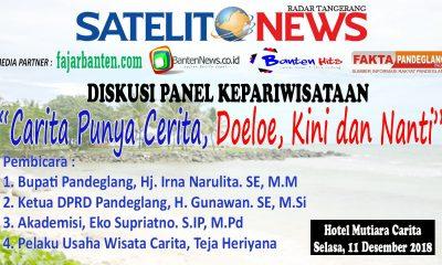Mengupas Cerita Pantai Carita, Satelitnews Gandeng BantenHits.com Gelar Diskusi Kepariwisataan 11 Desember 2018