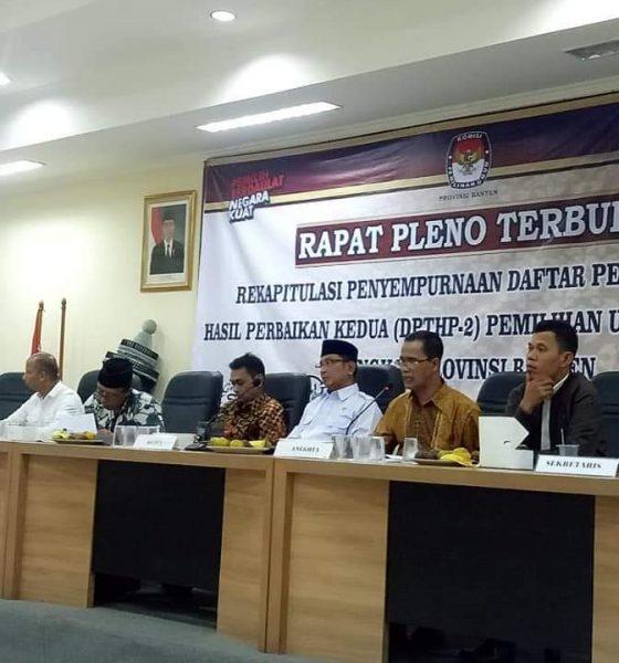 Rapat Pleno KPU Banten