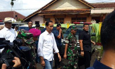 Jokowi Tinjau Penanganan Korban Tsunami di Labuan
