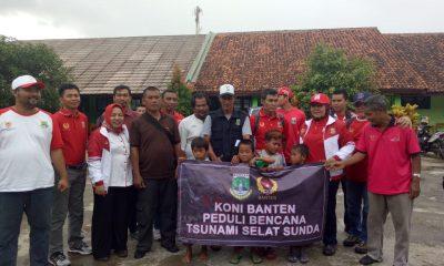 KONI Banten berikan bantuan untuk korban tsunami