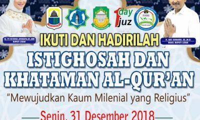 Malam Pergantian Tahun, Pemkab Lebak Gelar Istigasah dan Khataman Al-Quran