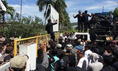 Gabungan Ormas di Kota Cilegon Demo PT SPIJ