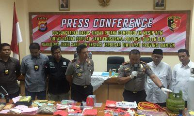 Kolaborasi Dua Polres di Banten Bekuk Komplotan Pembobol ATM yang Kuras Uang hingga Miliaran Rupiah