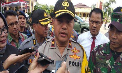 Kapolda Banten Brigjen Pol. Tomsi Tohir saat ekspos hasil operasi pekat kalimaya 2018