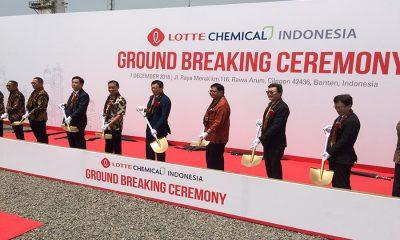 Menteri Perindustrian Airlangga Hartarto Resmikan Proyek Pabrik Lotte Chemical Indonesia