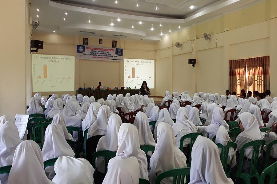SMA Negeri 3 Rangkasbitung Ajak Pelajar Lawan Bahaya HIV/AIDS