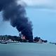 Kebakaran di Pulau Umang