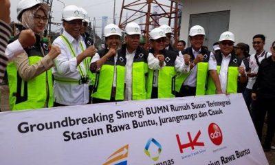Groundbreaking Rusunawa terintegrasi stasiun di Tangsel