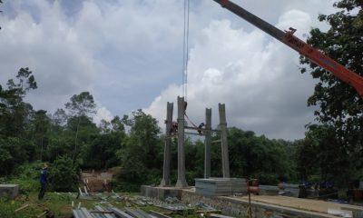 Jembatan gantung proyek Kementerian PUPR roboh